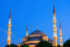 Blue Mosque at Dusk Royalty Free Stock Images