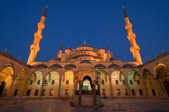 Blue Mosque at Dusk Royalty Free Stock Photos