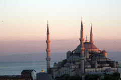 Blue Mosque at dusk. Blue mosque in Istanbul, Turkey, at dusk Royalty Free Stock Photo