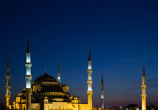 The Blue Mosque at Dusk Stock Photo