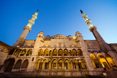 Blue Mosque at Evening Stock Photos