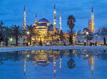The Blue Mosque in the evening Royalty Free Stock Image