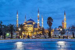 The Blue Mosque in the evening Royalty Free Stock Photography