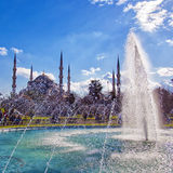 Blue Mosque with fountain 02 Stock Image