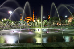 Blue Mosque with fountain Royalty Free Stock Image