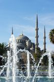 Blue mosque and fountain in Istanbul, Turkey. Blue mosque and fountain in Istanbul. Sultan Ahmet Cami in Istanbul Turkey Stock Images