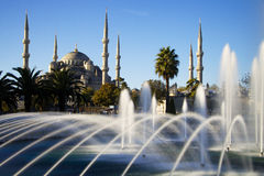 Blue Mosque with fountain, Istanbul Stock Photos