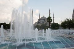 Blue Mosque and fountain 3 Stock Photo