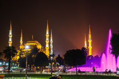 Blue mosque and the fountain Stock Photo