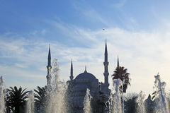 The Blue Mosque and fountains Royalty Free Stock Image