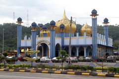 Blue mosque. With golden dome in Jerantut, Malaysia Stock Image