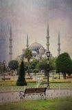 Blue Mosque ,grunge style. Stock Photo
