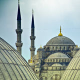 Blue Mosque from hagia sophia 02 Royalty Free Stock Photography