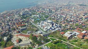 Blue Mosque and Hagia Sophia in Istanbul stock video