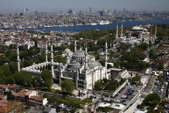 Blue Mosque and Hagia Sophia Royalty Free Stock Photo