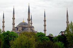 Blue Mosque II. The Sultan Ahmed Mosque was built between 1609 and 1616, during the rule of Ahmed I. Like many other mosques, it also comprises a tomb of the Royalty Free Stock Photo