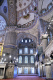 Blue mosque interior. Interior of the blue mosque in istanbul-turkey Stock Photography