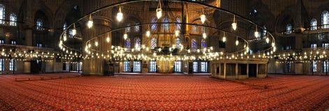 Blue mosque interior Stock Images