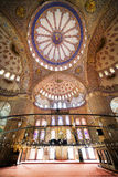 Blue Mosque Interior. Blue Mosque ( Turkish: Sultan Ahmet Cami) interior Ottoman architecture in Istanbul, Turkey Royalty Free Stock Image