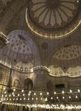 Blue Mosque Interior. Interior view of the Sultan Ahmed Mosque (Blue Mosque Stock Photo