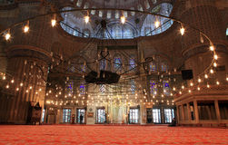 Blue mosque interior Stock Photography