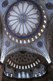 Blue Mosque Interior. Fragment of Blue mosque (Sultanahmet mosque) interior in Istanbul in Turkey Royalty Free Stock Photography