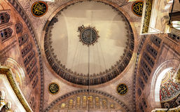 Blue Mosque interior. Also know as the Sultan Ahmed Mosque, it is historic mosque in Istanbul, Turkey Royalty Free Stock Images