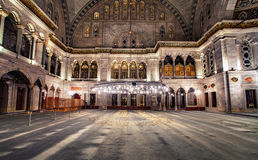 Blue Mosque interior. Also know as the Sultan Ahmed Mosque, it is historic mosque in Istanbul, Turkey Stock Image