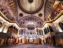 Blue Mosque interior. Also know as the Sultan Ahmed Mosquei n Istanbul, Turkey Royalty Free Stock Image