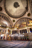 Blue Mosque interior. Also know as the Sultan Ahmed Mosquei n Istanbul, Turkey Royalty Free Stock Photos