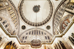 Blue Mosque interior. Also know as the Sultan Ahmed Mosquei n Istanbul, Turkey Stock Images