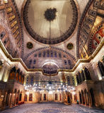 Blue Mosque interior. Also know as the Sultan Ahmed Mosquei n Istanbul, Turkey Stock Photos