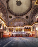 Blue Mosque interior. Also know as the Sultan Ahmed Mosquei n Istanbul, Turkey Stock Photo
