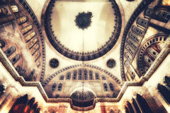 Blue Mosque interior. Also know as the Sultan Ahmed Mosquei n Istanbul, Turkey Stock Photography