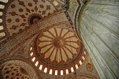 Blue mosque interior in Istanbul Stock Photography