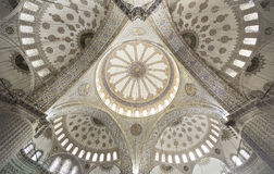 Sultan Ahmed Mosque or The Blue Mosque, Istanbul Turkey. Interior of The  Sultan Ahmed Mosque or The Blue Mosque showing the main dome Stock Image