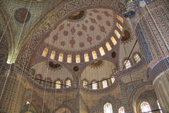 Blue Mosque Interior. The interior of the Blue Mosque in Istanbul, Turkey Stock Photography