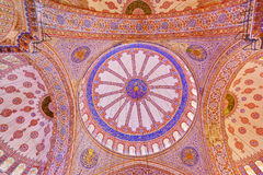 Blue mosque interior in Istanbul Turkey Royalty Free Stock Image