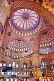 Blue mosque interior in Istanbul Turkey. Architecture religion background Stock Photos