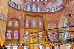 Blue mosque interior in Istanbul Turkey Stock Photos
