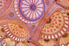 Blue mosque interior in Istanbul Turkey. Architecture religion background Royalty Free Stock Photography