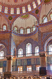 Blue mosque interior in Istanbul Turkey. Architecture religion background Stock Photo
