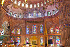 Blue mosque interior in Istanbul Turkey Stock Photo