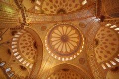 Blue Mosque interior in Istanbul, Turkey. Turkish: Sultan Ahmet Cami. Blue Mosque interior in Istanbul, Turkey. Sultan Ahmet Cami Royalty Free Stock Images