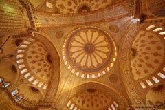 Blue Mosque interior in Istanbul, Turkey. Turkish: Sultan Ahmet Cami. Blue Mosque interior in Istanbul, Turkey. Sultan Ahmet Cami Royalty Free Stock Photography