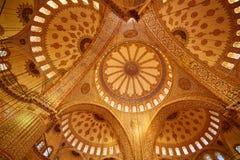 Blue Mosque interior in Istanbul, Turkey. Turkish: Sultan Ahmet Cami. Blue Mosque interior in Istanbul, Turkey. Sultan Ahmet Cami Royalty Free Stock Photo
