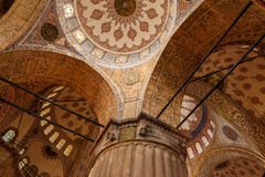 Blue Mosque interior, Istanbul. Turkey Royalty Free Stock Photos