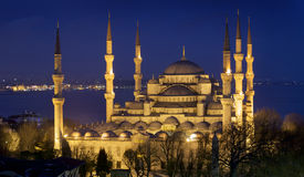 Blue mosque Istanbul. Photo of the Blue mosque Istanbul at dusk Stock Photography