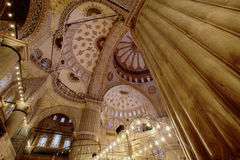 Blue mosque Istanbul. Photo of Blue mosque Istanbul indoors Royalty Free Stock Image