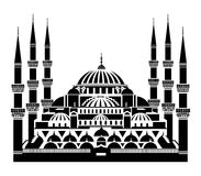 The Blue Mosque, Istanbul. Vector silhouette of The Blue Mosque, Istanbul Stock Photo
